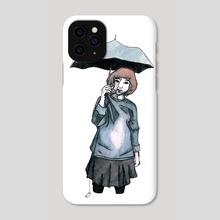 Grey Umbrella - Phone Case by Maverick Chavaria & Cecilia Salisbury