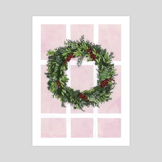 Christmas Wreath by Elaine Lee