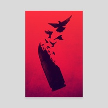 Bullet Birds - Canvas by Victor Vercesi