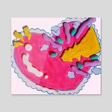 heartburst - Acrylic by DOGBITT3