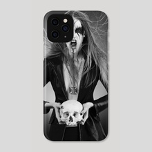 Black Metal Barbie II - Phone Case by Antonella Arismendi