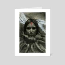 Old Shaman - Art Card by Gabriela Handal