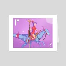 The Dino Rider - Art Card by TB Untold (Tommaso Brusegan)