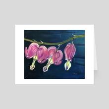 Glow II: Bleeding Hearts - Art Card by Hope Martin
