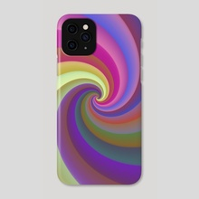 Rainbow Spiral 173 - Phone Case by Chris Foulkes