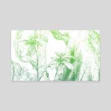 Amazonas (green version) - Canvas by Miranda Pastor