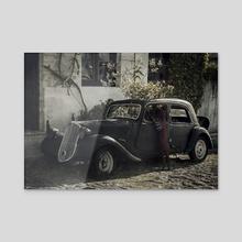 El viaje - Acrylic by Laura Nagel