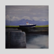 Boat Out of Water - Canvas by Patti Tronolone