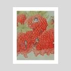 strawberries panel 2 - Art Print by Sandra Gunniga Thomson