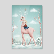 Winter Dreams - Acrylic by Eda Herz