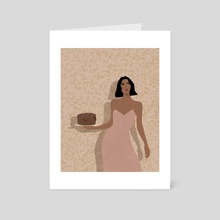 Did Somebody Say Dessert - Art Card by Crystal Perez