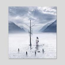 Distant Shore - Acrylic by Daria Endresen