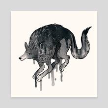 Wolf - Canvas by Kirsten Rothbart