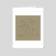 Paper Planes (Line Version) - Art Card by Risse Stevens