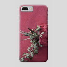 Pink and plant - Phone Case by josemanuelerre