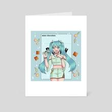 Hatsune Miku + Pocky - Art Card by Alyssa Ly