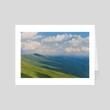 Carpatian mountains - Art Card by Anton Popov