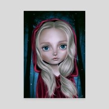 Little Red Riding Hood - Canvas by Eda Herz