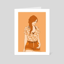 Amber - Art Card by Drude Mangaard