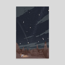 Night Sky - Canvas by Joe Lillington