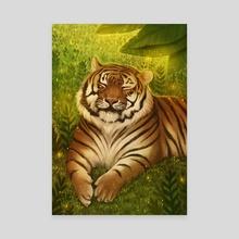 Wild Tiger - Canvas by Mariana Gomes
