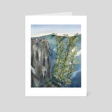 Otters in the Kelp Forest - Art Card by Skylaar Amann
