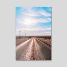 Desert Highway  - Acrylic by Matthew Tsai