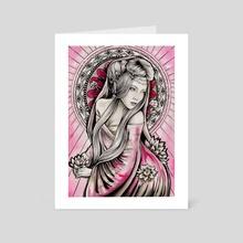 Goddess Quan Yin - Art Card by Liisa Berezkin