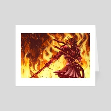 It Ends With Fire - Art Card by Amya Chronicles