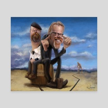 Adam and Jamie - Canvas by Alexander Novoseltsev