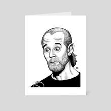 George Carlin - Art Card by Collins Spaedy