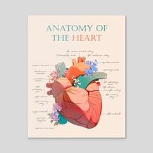 Anatomy of the Heart - Acrylic by jauni