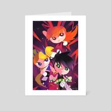 Powerpunk Girls - Art Card by Abigail Dela Cruz