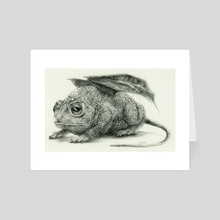Bufonidae Flutter Mouse - Art Card by Jessica R U Bishop