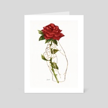 Gilded Hand - Rose - Art Card by Catherine Herold