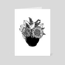 Sunflower Bouquet - Art Card by Tanya Heidrich