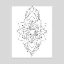 Meditation mandala flower - Canvas by Emii Emilova