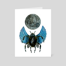Moon Bug - Art Card by Sebastian Grafmann
