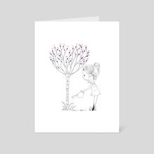 Heart Tree - Art Card by Elinore Guvoix
