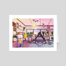 Yoga - Art Card by Alina Drozdova