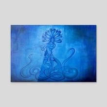 Krishna with the flute - Acrylic by gabreyhl