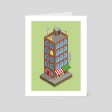 Jumbo's Building - Art Card by Onno Knuvers