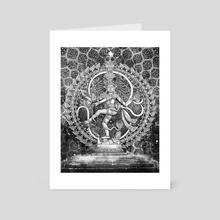 Nataraja BW - Art Card by Kip Ayers