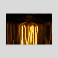 Edison Lightbulb - Canvas by Martin Boehme