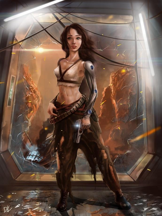 3D asset Sci Fi Girl | CGTrader
