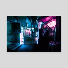 Shiny Midnight Street, Tokyo - Canvas by H Designs