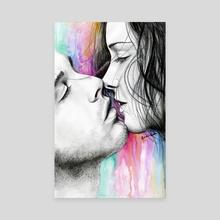 Explosive Love - Canvas by Sandra Acosta