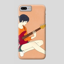 Playing the bass - Phone Case by Sai Tamiya