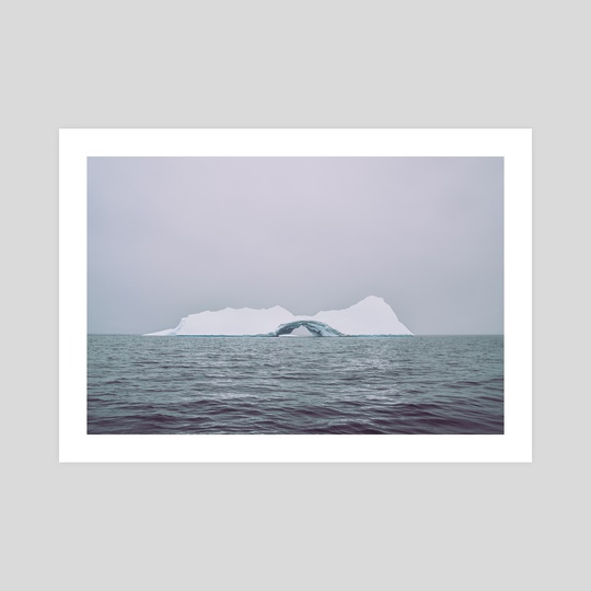 Iceberg in the middle of the waters by Namchetolukla