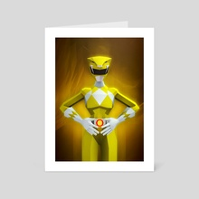 Yellow Ranger - Art Card by Jonathan Lam